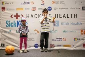 Demo of Rainbow Necklace @SickKids Hacking Health 2014