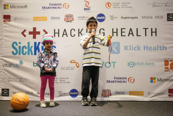Demo of Rainbow Necklace @SickKids Hacking Health 2014