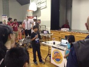 Artash and Arushi presenting