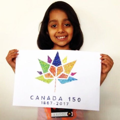 Arushi holding her Entry 2