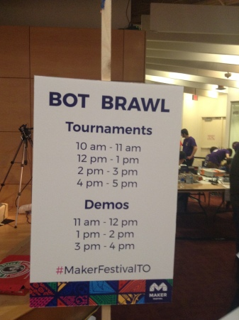 Bot Brawl Schedule