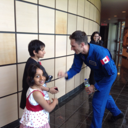 With Canadian Astronaut Joshua Kutryk