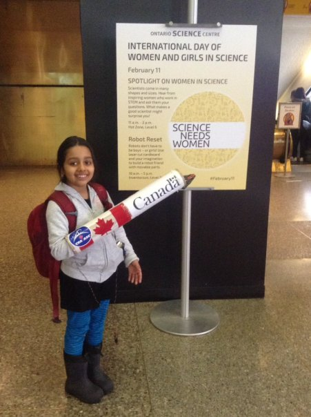 arushi with canada arm