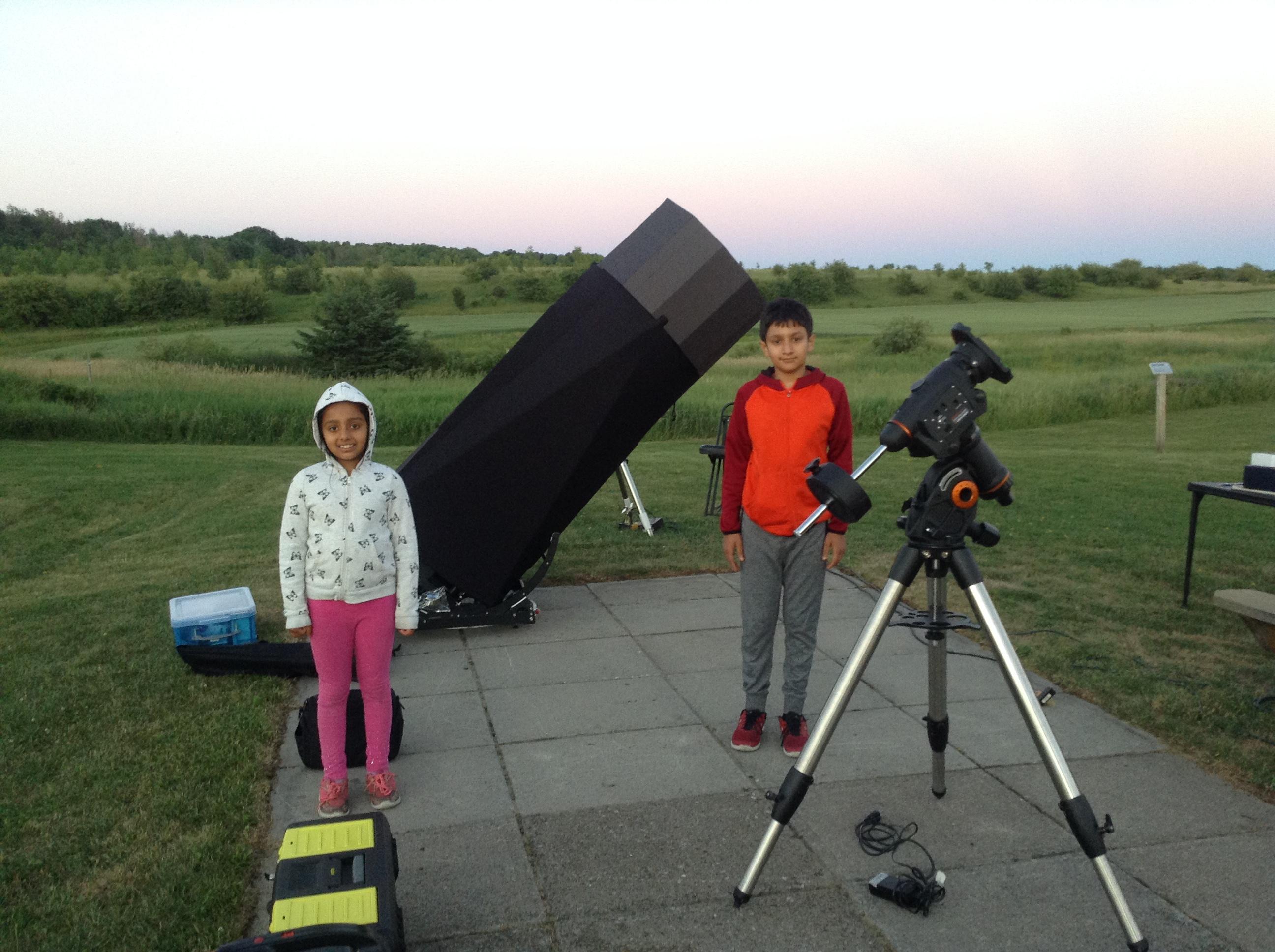 Both with telescope