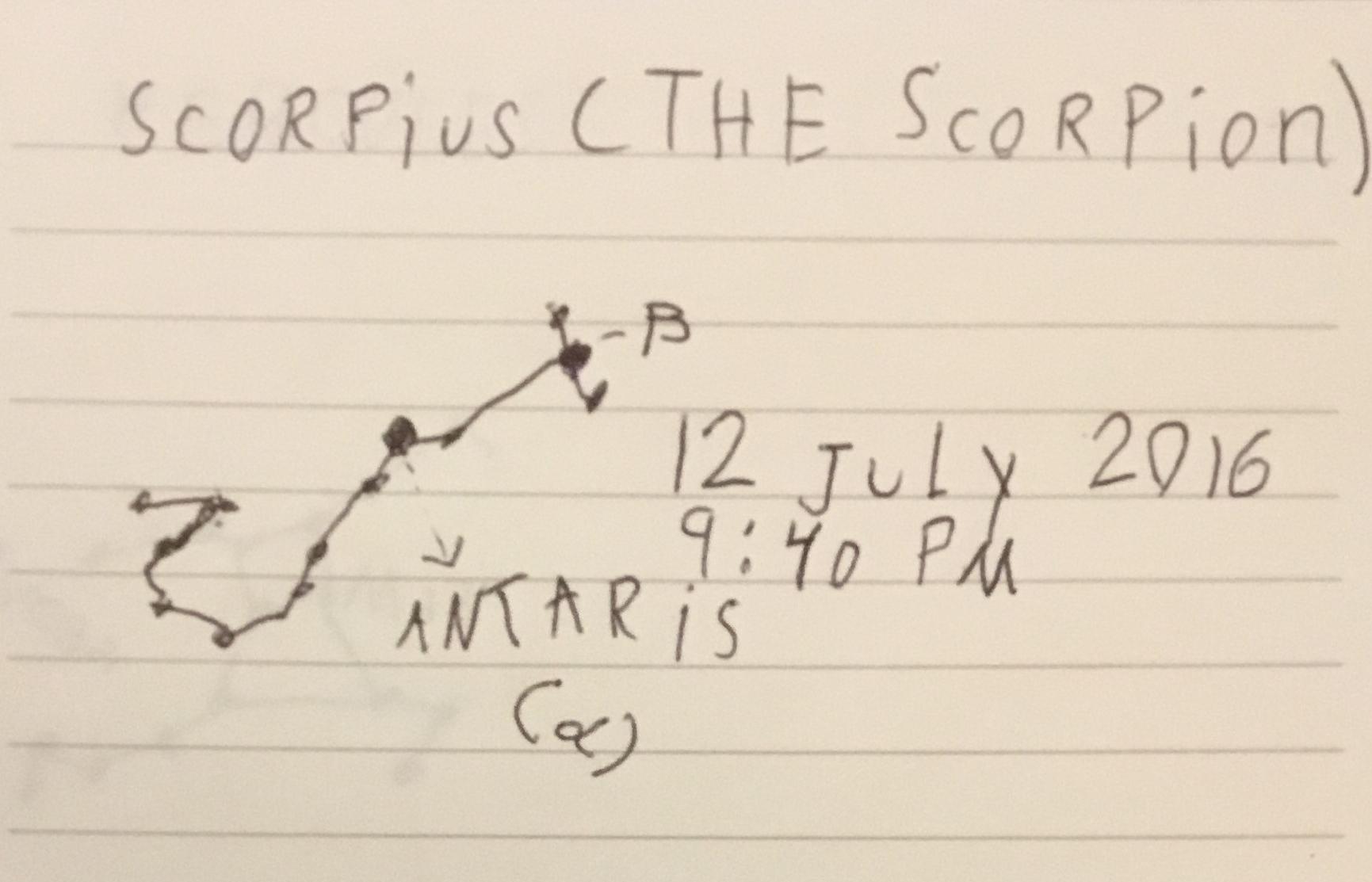 Scorpius the Scorpion constellation